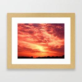 Fiery Sunrise Framed Art Print