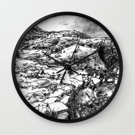 Desert_rocks Wall Clock