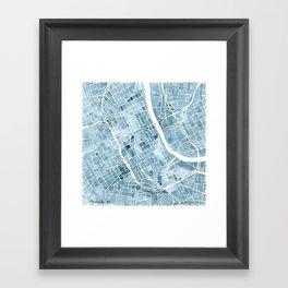 Map Nashville Tennessee Blueprint City Map Framed Art Print