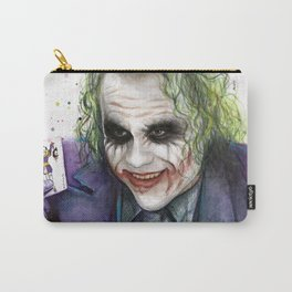 Joker Why So Serious Watercolor Carry-All Pouch