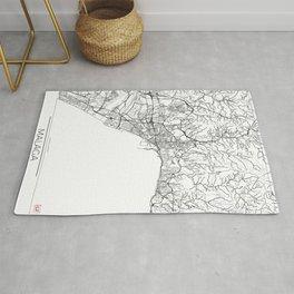 Malaga Map White Rug