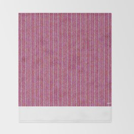Pink Roses in Anzures 1 Knit 2 Throw Blanket