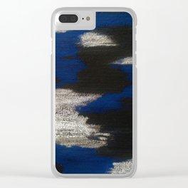 Blue blend Clear iPhone Case