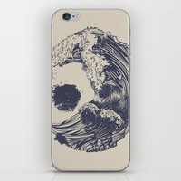 waves iPhone & iPod Skins featuring Swell by Huebucket