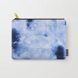 Marbled Water Blue Carry-All Pouch