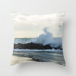 Fiumicino beach Throw Pillow