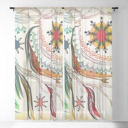 Bohemian Sheer Curtain