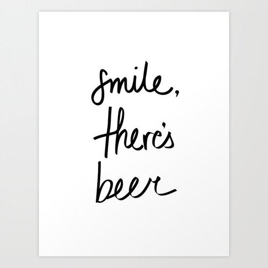 Smile - Beer Art Print