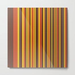That 70's Look Seventies Abstract Lines Metal Print