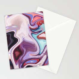 pixel glitch marble Stationery Cards