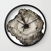 Wall Clocks featuring cross-section I by Cathrine Liberg