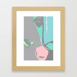 SONIA PINK - Mid Century Modern Abstract Graphic Design Framed Art Print