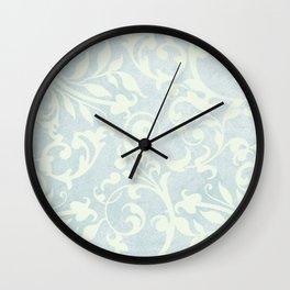 Shabby Chic Damask Wall Clock