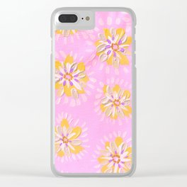 Tangerine Petal Rose Clear iPhone Case