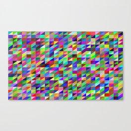 Colorful small trangles digital pattern Canvas Print