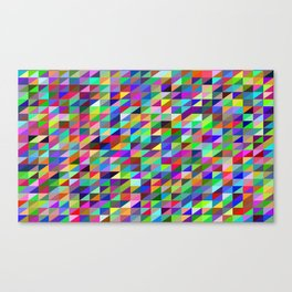 Colorful small trangles digital pattern Canvas Print
