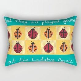 Ladybug Picnic Rectangular Pillow