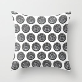 Beer can seamless pattern Throw Pillow
