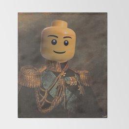 Le-go Man General Portait Painting   Fan Art Throw Blanket
