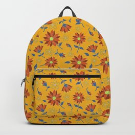 Golden Hues Decorative Floral  Backpack