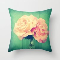 roses Throw Pillows featuring Roses by 2sweet4words Designs