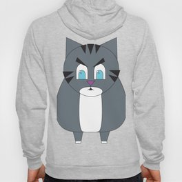 Angry Fat Tabby Cat Hoody