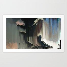 A Place I know: digital glitch painting Art Print