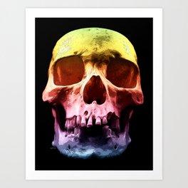 Pop Art Skull Face Art Print