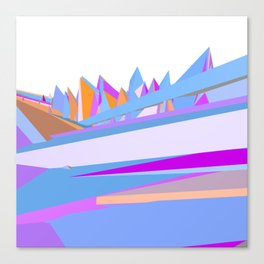 Pastel pink blue orange hand painted geometrical abstract pattern Canvas Print