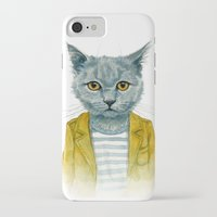 kitty iPhone & iPod Cases featuring Kitty by Leslie Evans
