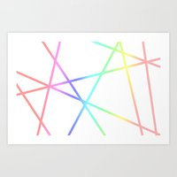 Trapped Pastels Art Print