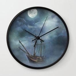 Sailing in the Dark Seas Wall Clock