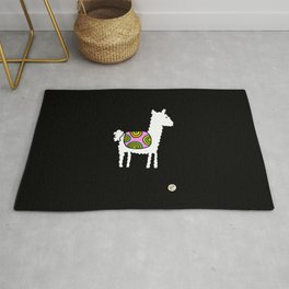 cute retro lama Rug