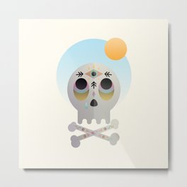 Magic Skull Metal Print