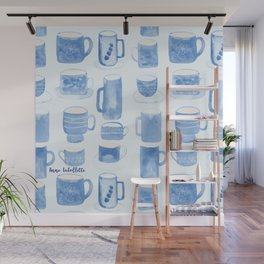 Blue coffee cups Wall Mural