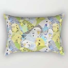 Budgie Parakeets Rectangular Pillow