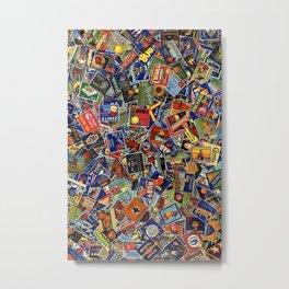 Fruit Crate Collage Metal Print