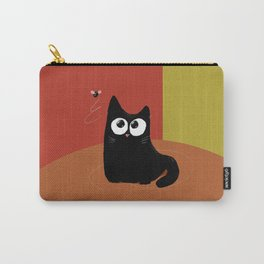 A cat and a fly in warm Carry-All Pouch