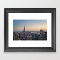 New York City, Empire State Building at dusk Framed Art Print