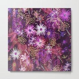 Eden Floral Purple Metal Print