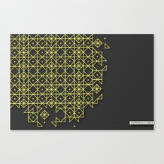 Gold&grey Canvas Print