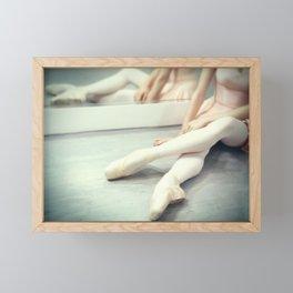 Ballerina: A Rest Between Rehearsals Framed Mini Art Print