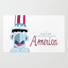 A Salute to All Nations, but Mostly America Rug
