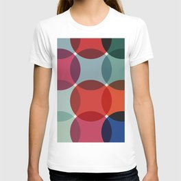 Retro Colored Dots 2 T-shirt