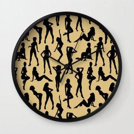 Femmes // Tan Wall Clock