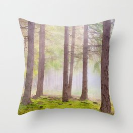Scottish forest watercolor painting #2 Throw Pillow