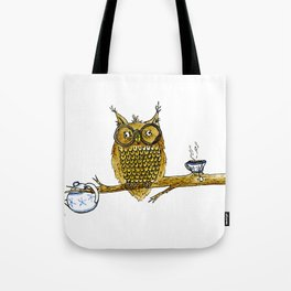 Overly Caffeinated Owl Tote Bag