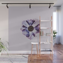 Minimal Purple Flower Wall Mural