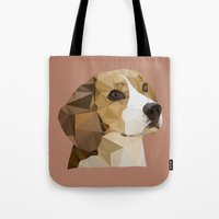 beagle Tote Bags featuring Beagle by Sally Taylor