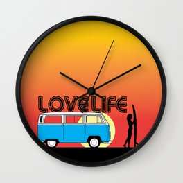 Love Life - Surf Van Wall Clock